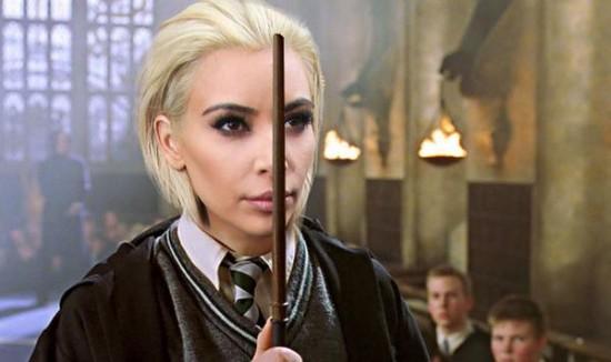 Kim Kardashian en Drago Malefoy