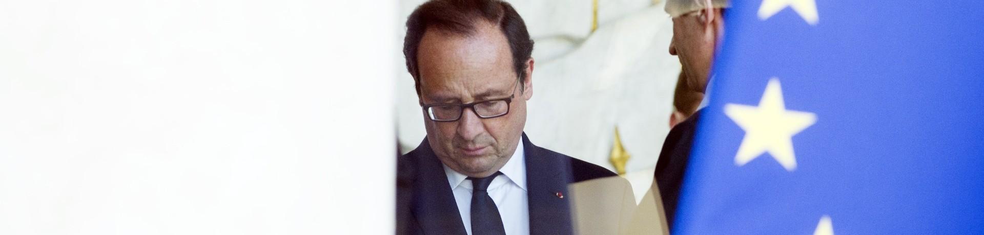 Le président François Hollande au palais de l'Élysée en juillet 2014.