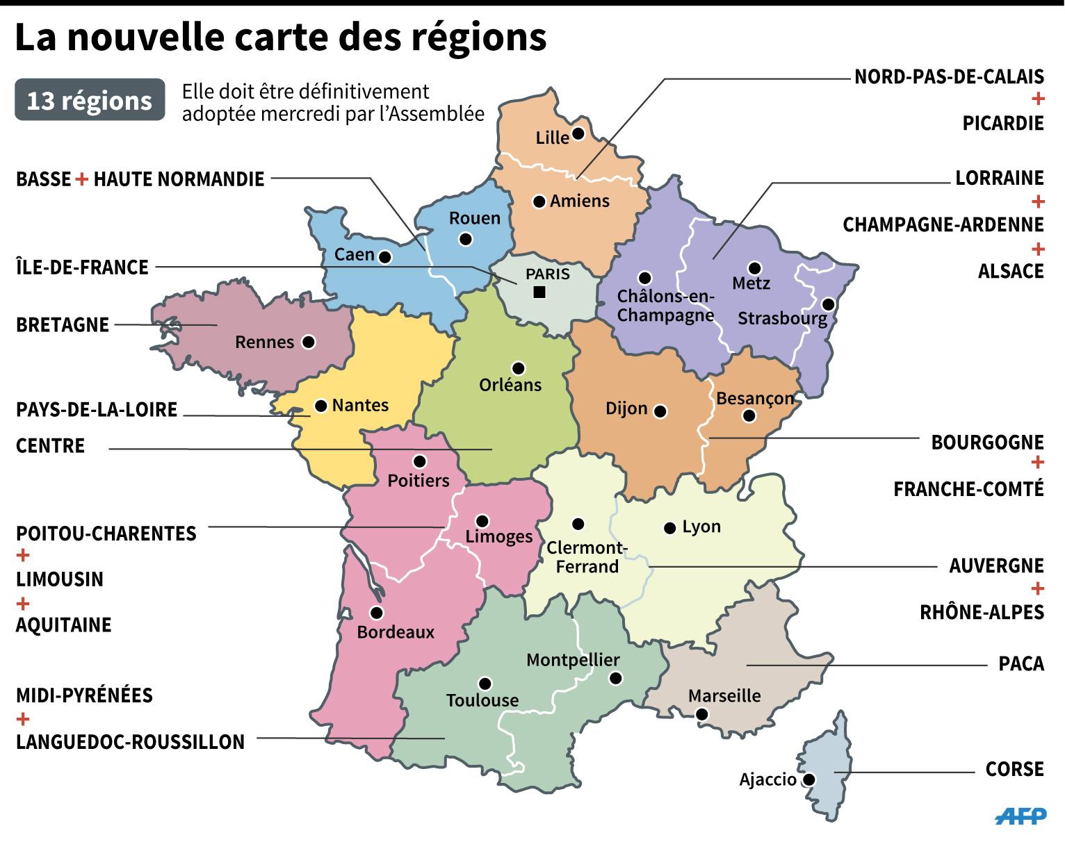 Sondage Les Francais Tres Partages Face Aux Nouvelles Regions