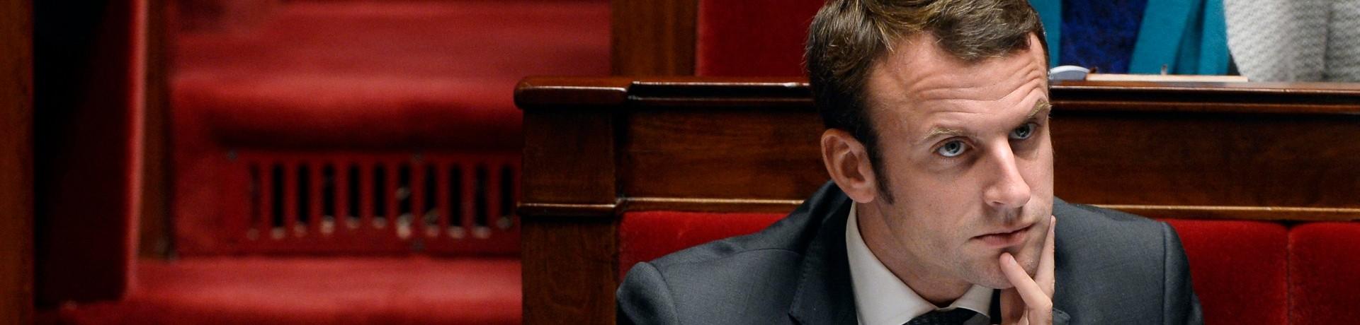 Emmanuel Macron à L'Assemblée nationale (illustration)