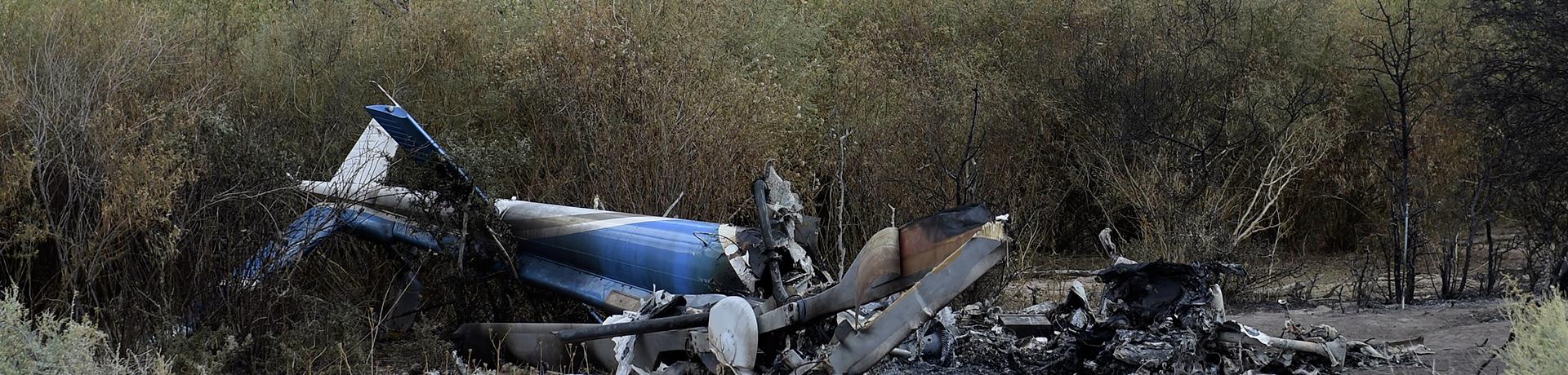 Les carcasses des hélicoptères qui se sont crashés en Argentine