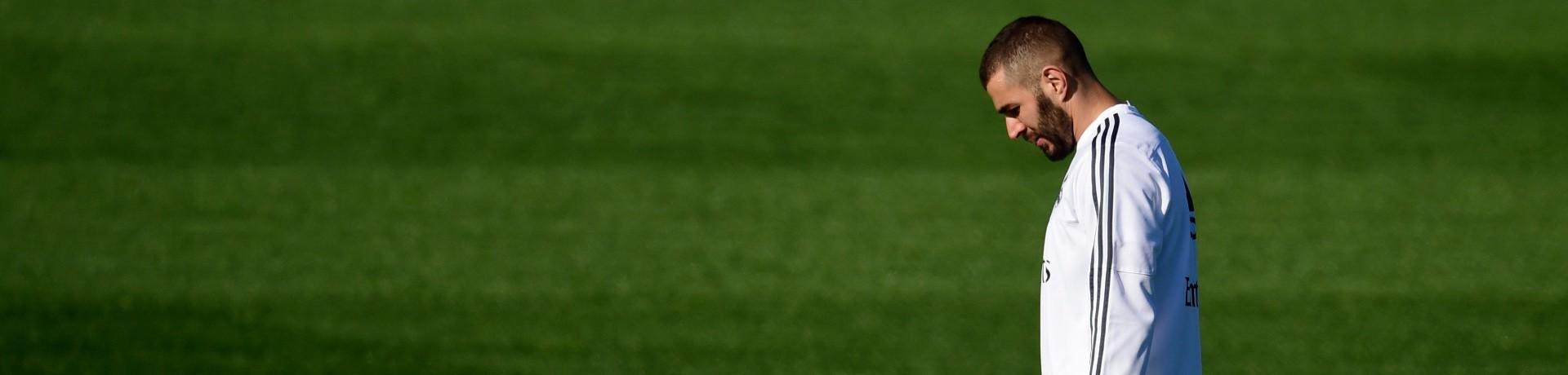 Karim Benzema en novembre 2015 à l'entraînement avec le Real Madrid