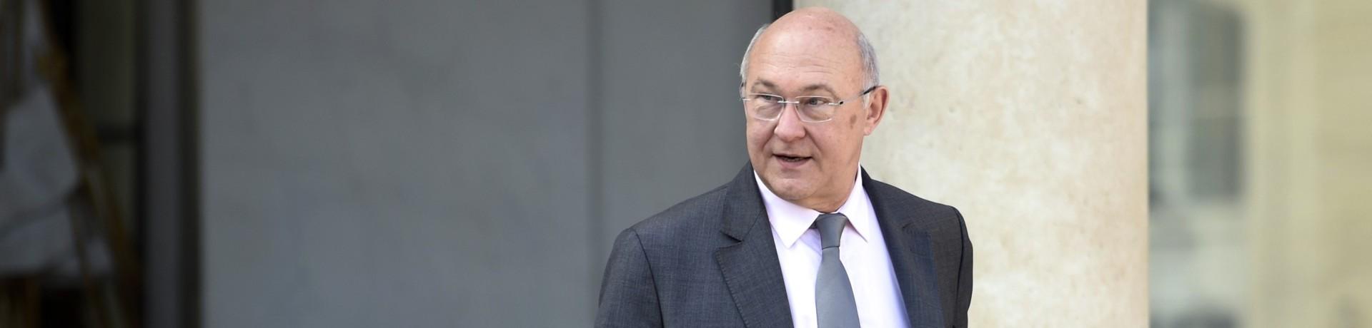 Le ministre des Finances Michel Sapin, ici à l'Elysée le 9 avril 2014, veut maintenir l'objectif du déficit à 3% (Archives)
