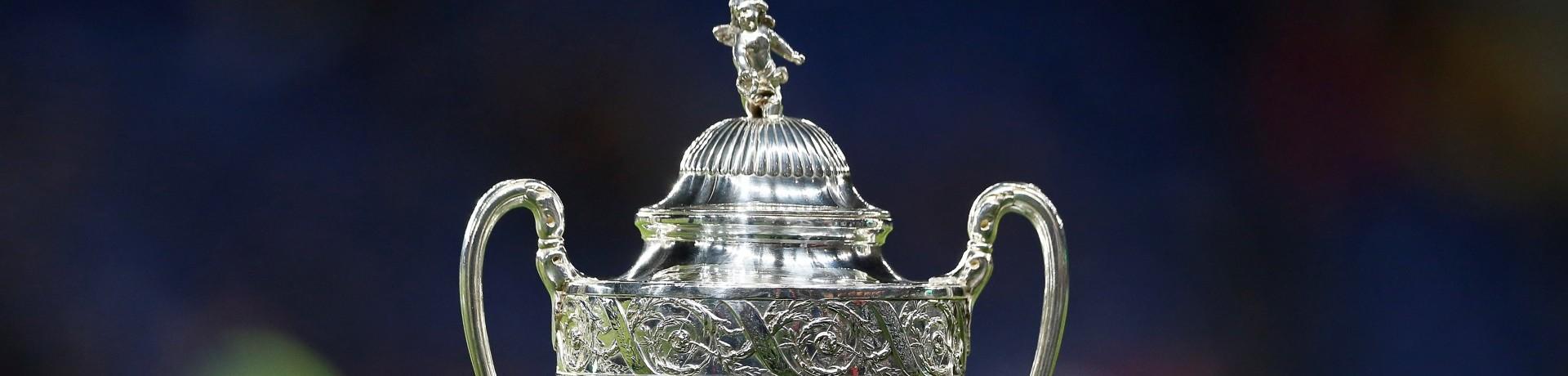 Le trophée de la Coupe de France (illustration)
