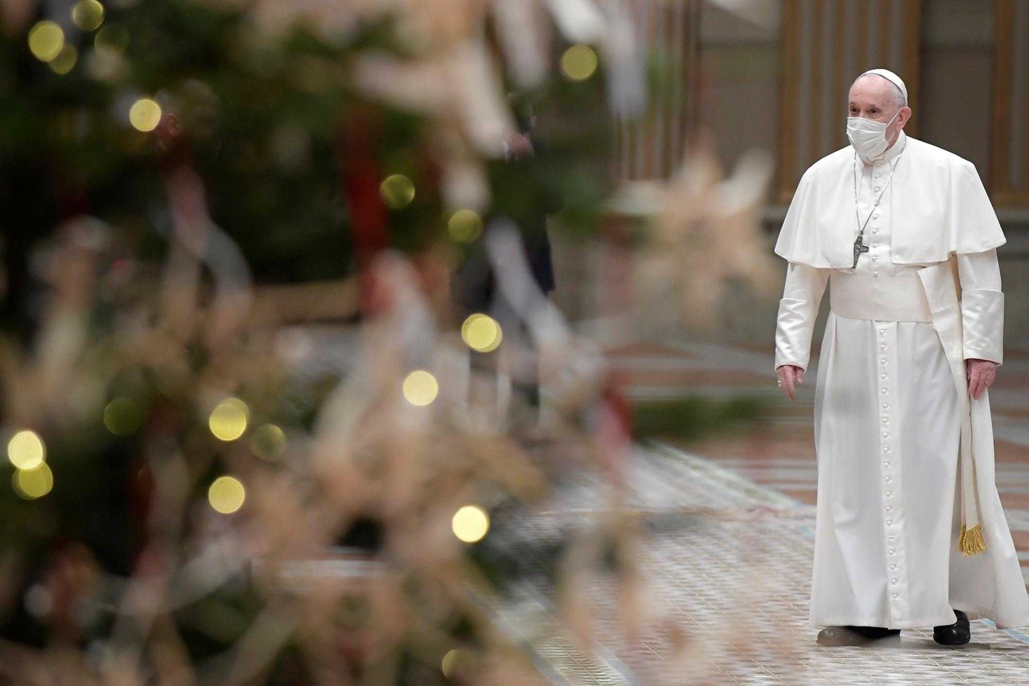 """VIDEO - Fêtes de fin d'année : le Pape appelle à la """"fraternité"""" et au vaccin pour """"tous"""""""
