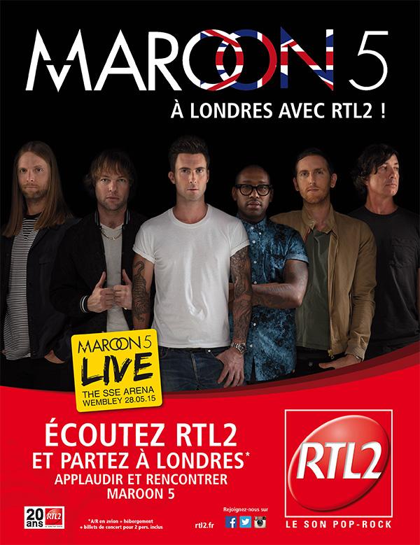 Maroon 5 à Londres avec RTL2
