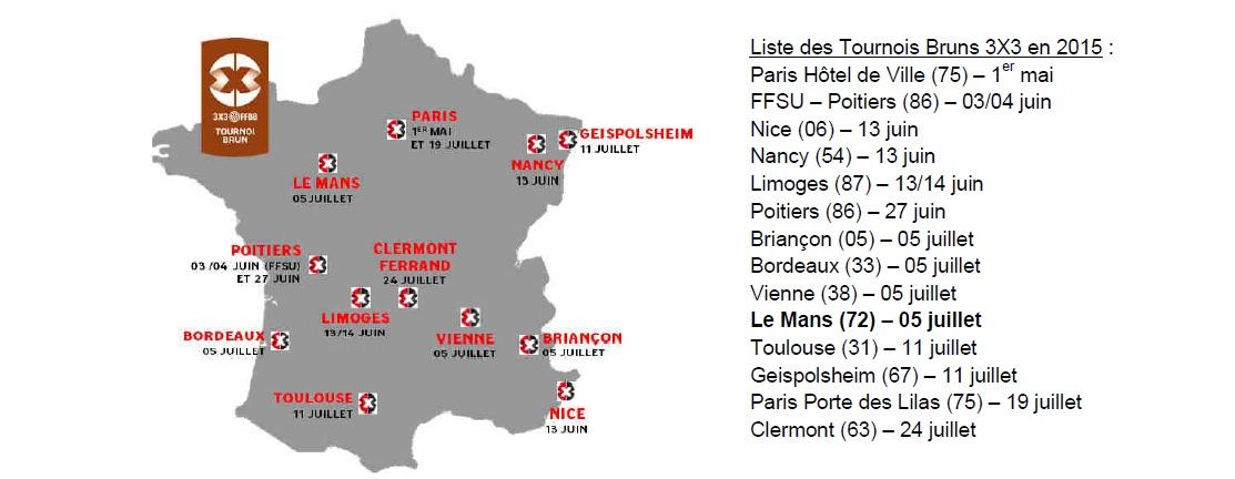 Liste des tournois bruns en France