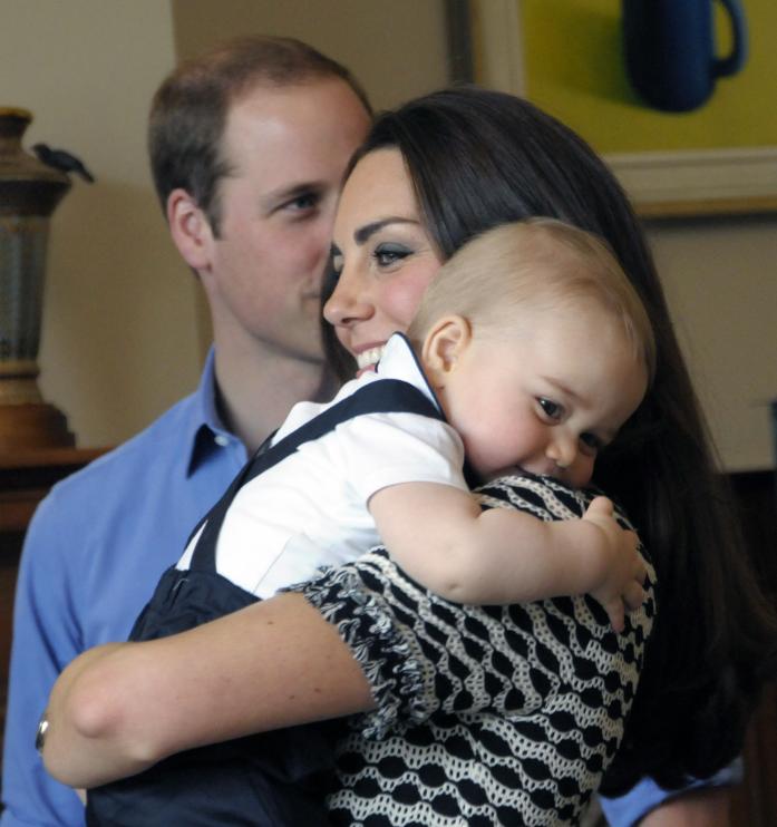 Le prince George avec ses parents, en Nouvelle-Zélande, en 2014.
