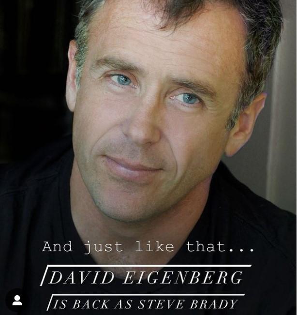 David Eigenberg revient en tant que Steve Brady, l'époux de Miranda Hobbes