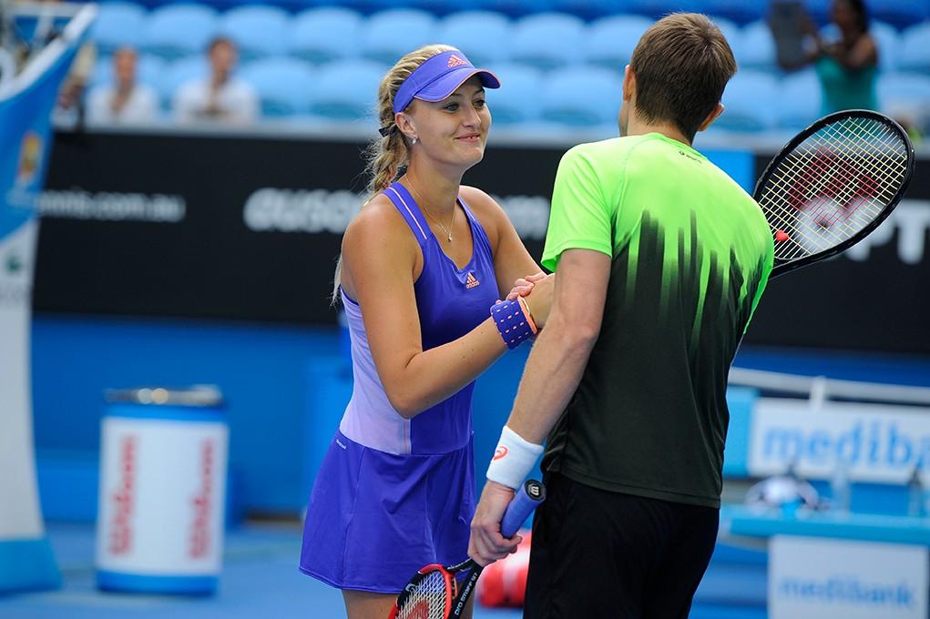 Associée au Canadien Daniel Nestor, Kristina Mladenovic s'est hissée est en finale du double mixte