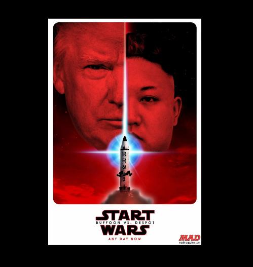 """La politique s'invite dans """"Star Wars"""" avec Donald Trump et Kim Jong-un"""