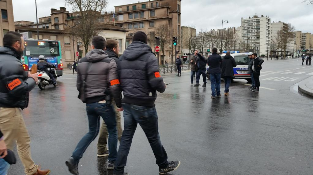 La police en faction Porte de Vincennes