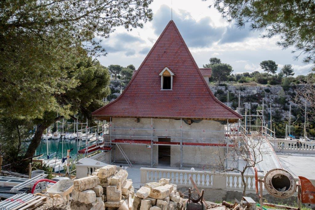 Le château de Port Miou à Cassis