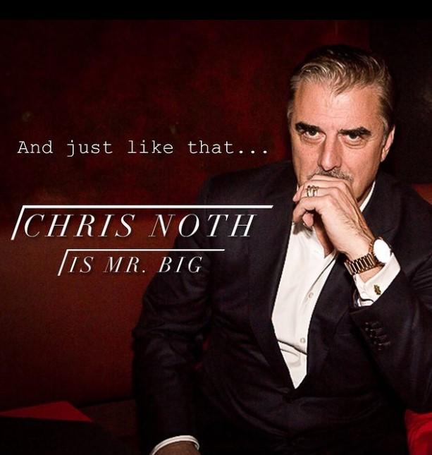 Chris Noth, Mr.Big, devenu l'époux de Carrie Bradshaw