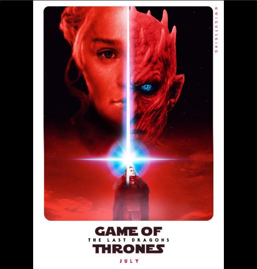 """La série """"Game of Thrones"""" avec Daenerys Targaryen, le Roi de la Nuit et Jon Snow"""