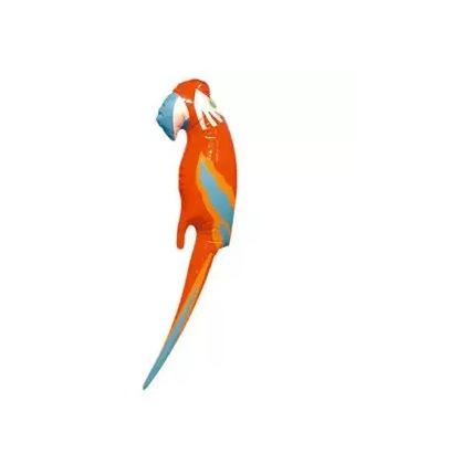 Un perroquet gonflable.