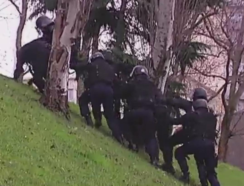 La police en pleine intervention à la Porte de Vincennes