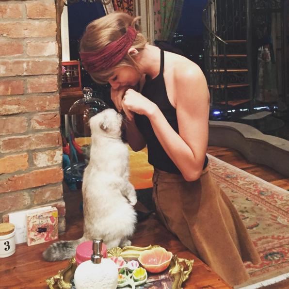 5 - Taylor Swift aime bien jouer avec son chat