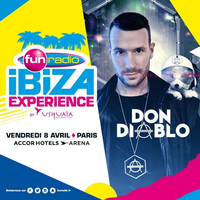 Don Diablo à la Fun Radio Ibiza Experience