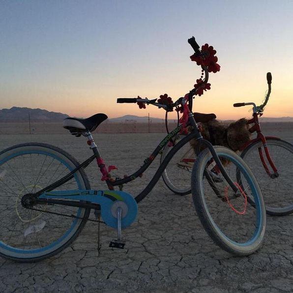 Elle a immortalisé quelques vélos hippies