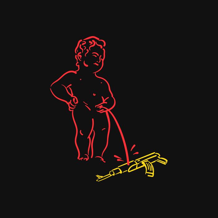 Le Manneken-Pis contre la violence des armes