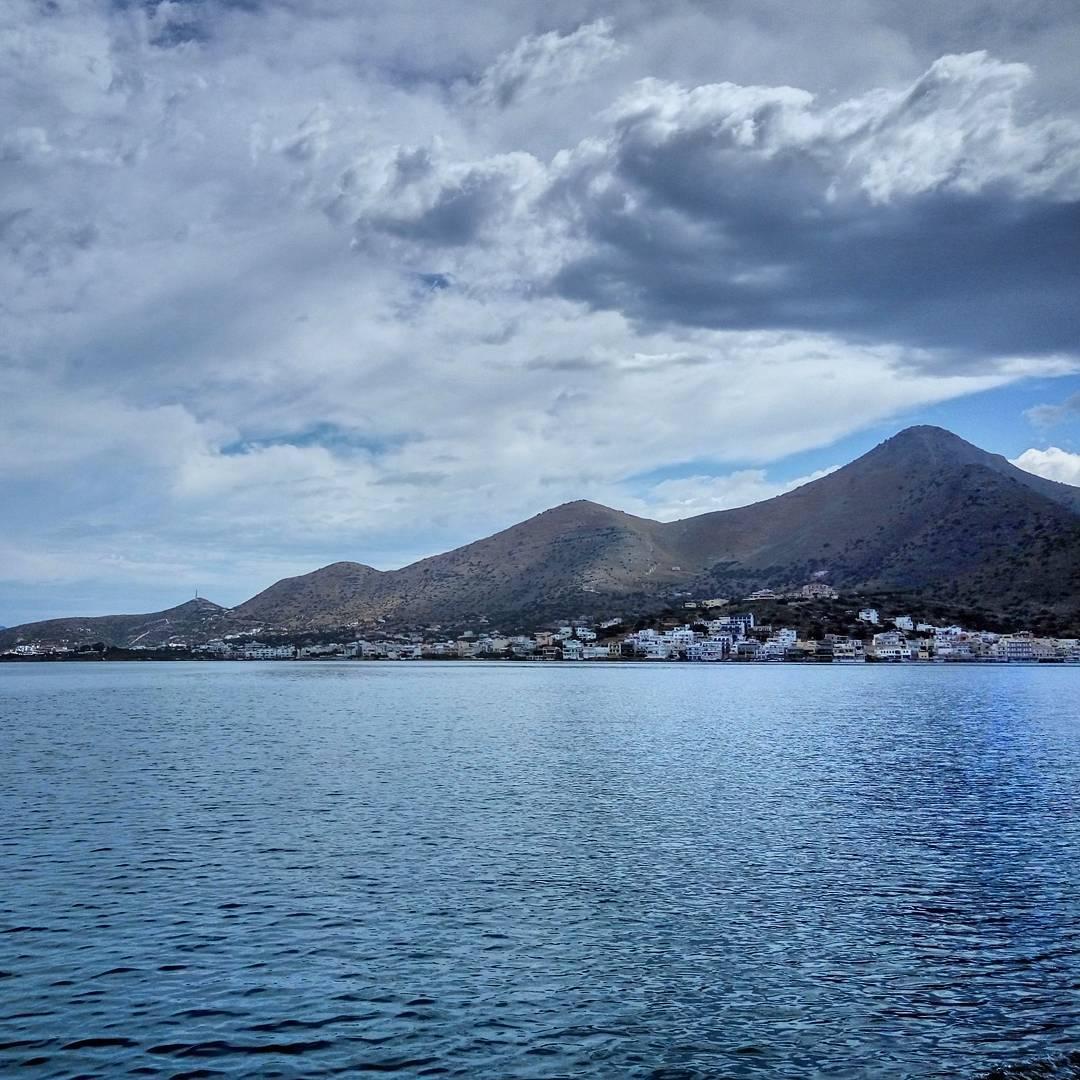 La ville vallonée d'Elounda, en Crète