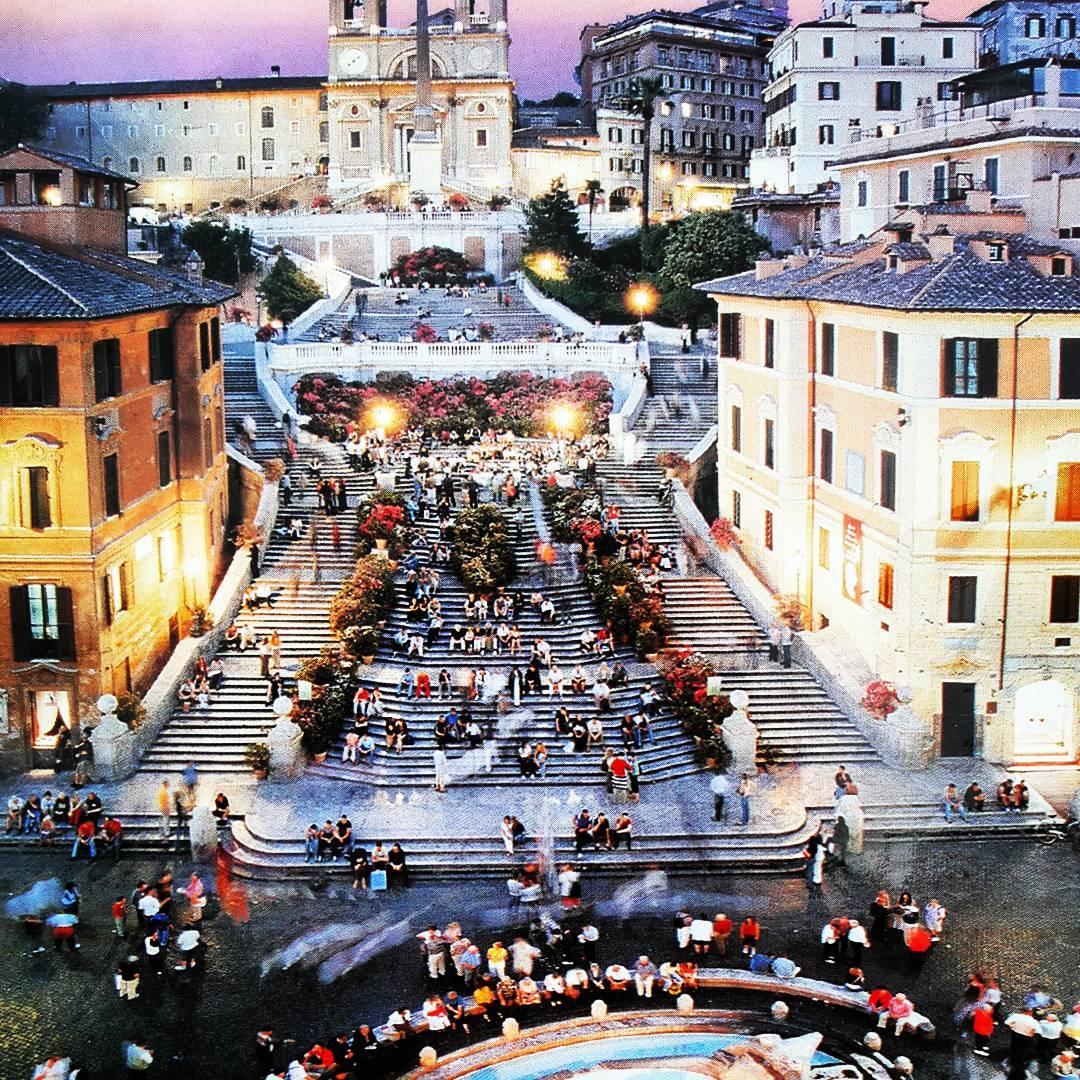 La place d'Espagne (piazza di Spagna) de Roma