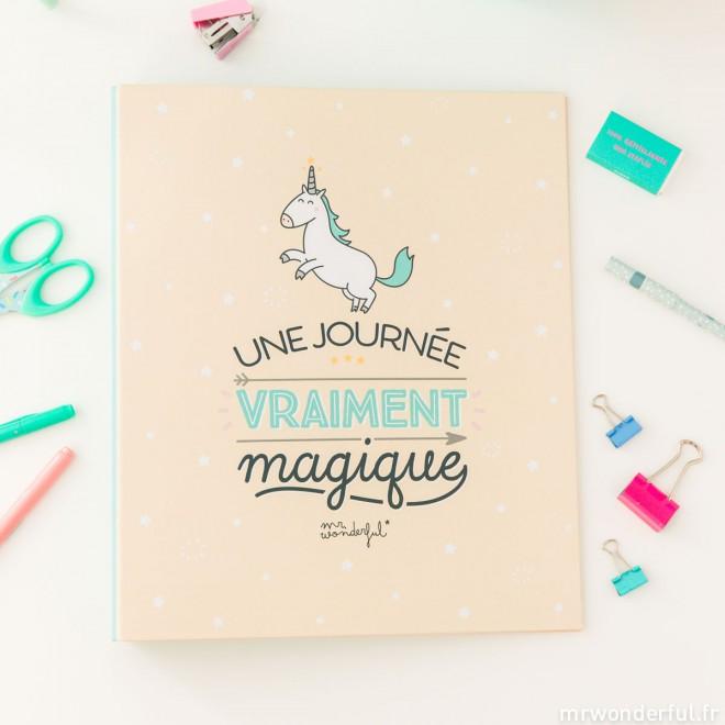 """Un carnet où écrire toute ses journées """"vraiment magique(s)"""", Mr. Wonderfull (6,96 euros)"""