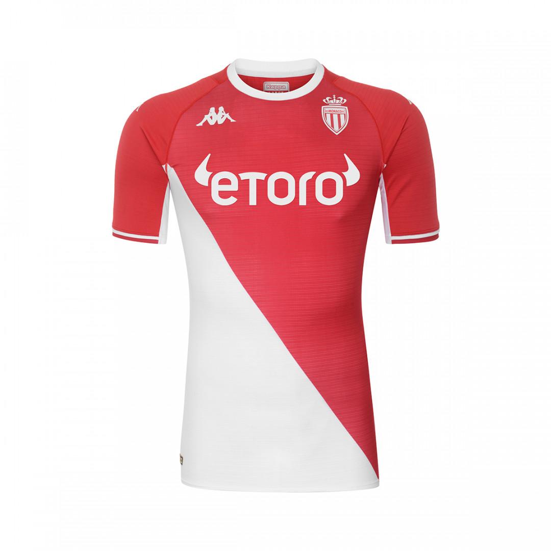 Le maillot domicile de Monaco pour la saison 2021-2022