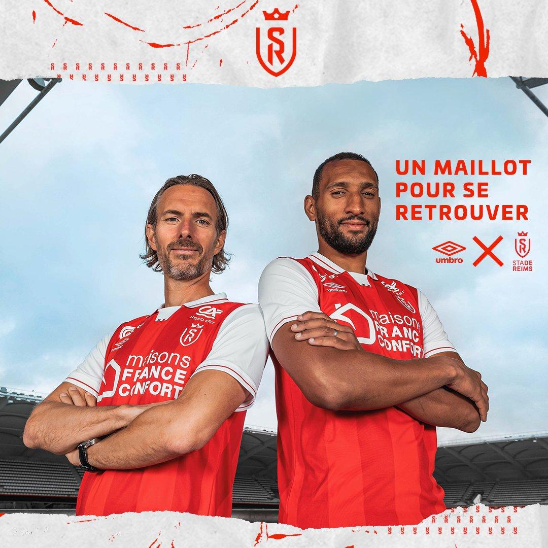 Le maillot domicile de Reims pour la saison 2021-2022