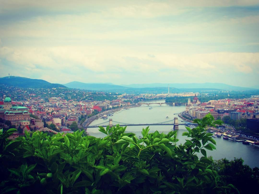 Budapest, vue sur le Danube.