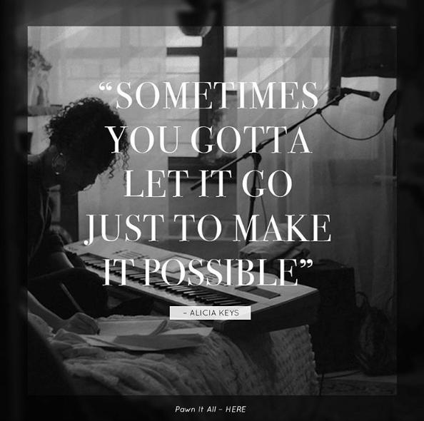 """""""Parfois vous devez laisser les choses se faire pour les rendre possible"""", nous conseille Alicia Keys"""