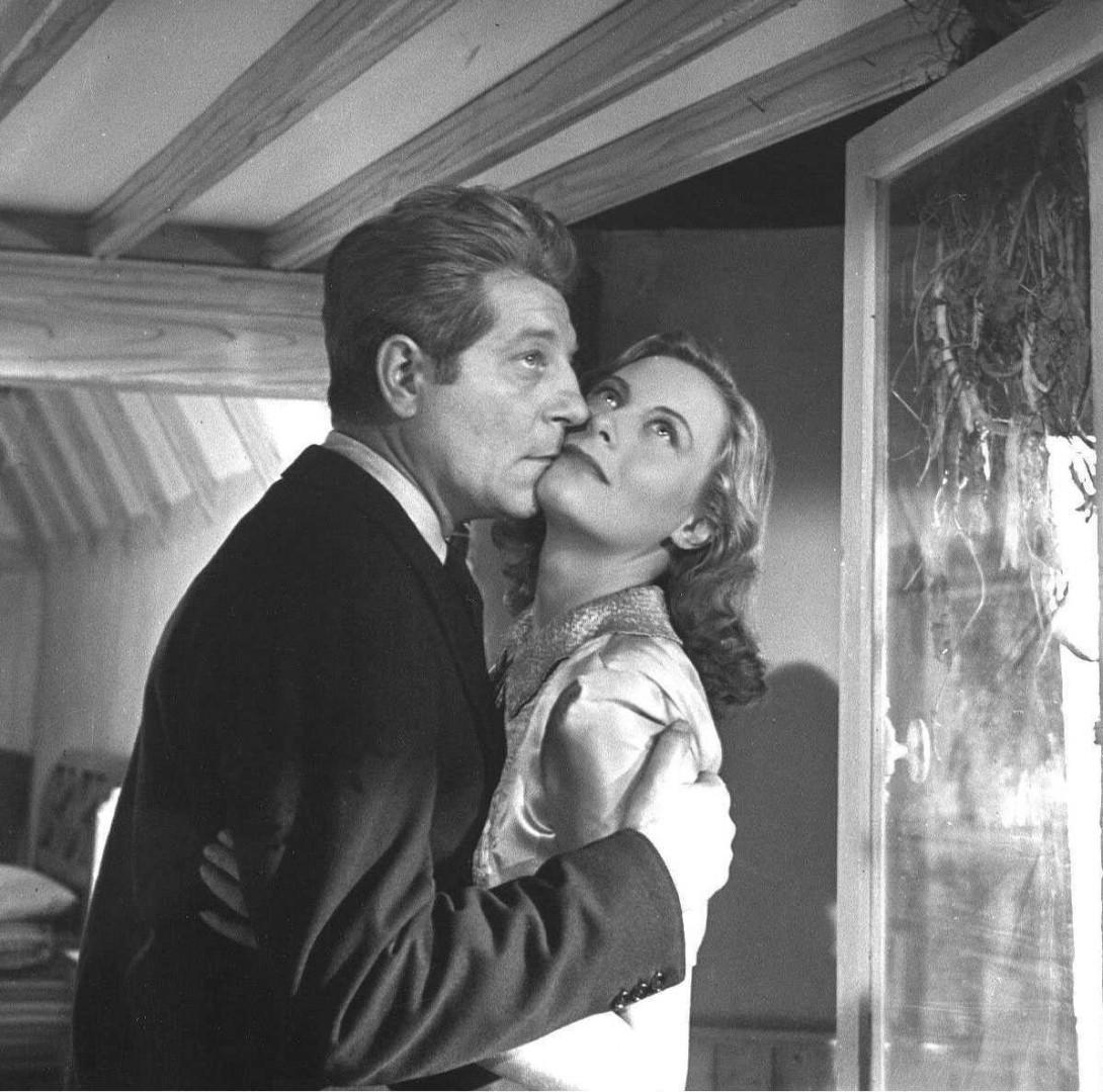 """Jean Gabin et Michèle Morgan sur le tournage de """"Remorques"""" (1941)"""