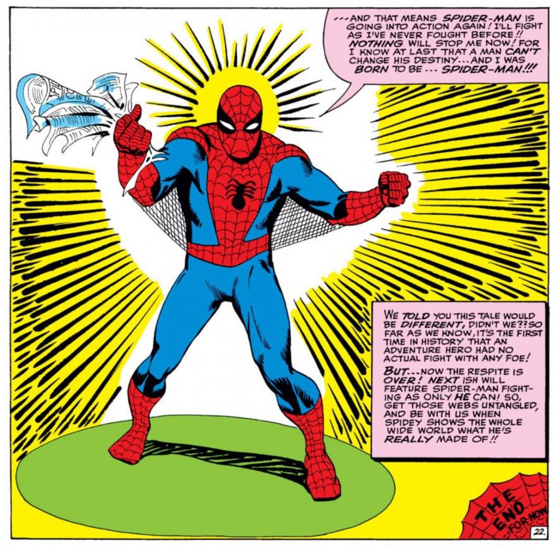1962 - Le premier costume dessiné par Steve Ditko