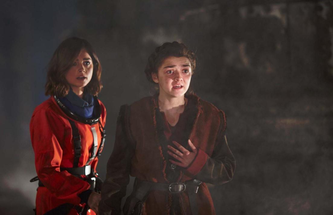 """Avec  Jenna Coleman dans l'épisode 5 de la saison 9 de """"Doctor Who"""" (2015)"""
