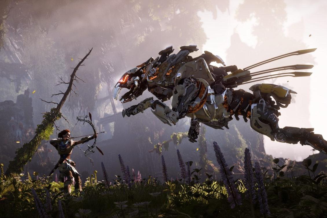 """""""Horizon Zero Dawn"""" propose une aventure riche, belle, longue et où vous pourrez détruire des robots-dinosaures. Que demande le peuple ? (PS4 - 50 €)"""