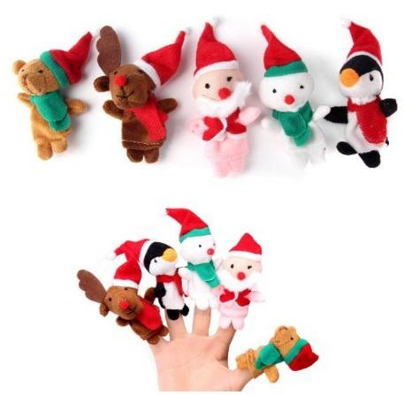 Des marionnettes de Noël pour les doigts.