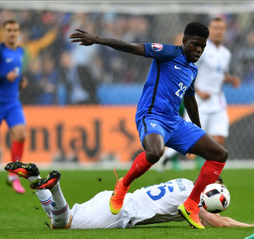 Samuel Umtiti avec l'équipe de France
