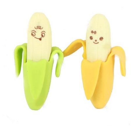 Des gommes en forme de banane.