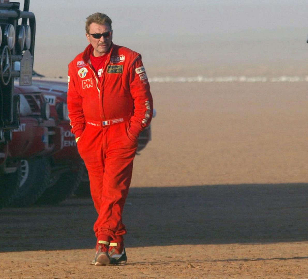 4 janvier 2002 : avant le départ de la 8e étape entre Tan Tan, au Maroc, et Zouérate, en Mauritanie