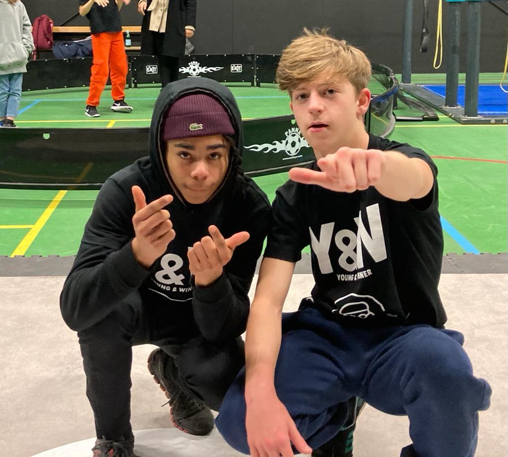 Mathéo Dubar, 16 ans avec Martin Lejeune, 18 ans déjà médaillé d'argent aux Jeux de la jeunesse en 2008. Ils visent tous les deux Paris 2024.