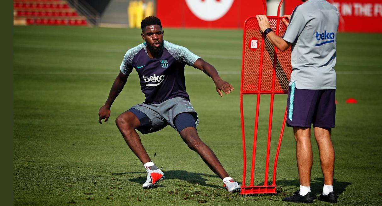Samuel Umtiti est rapidement redevenu sérieux et s'est remis au travail avec le Barça