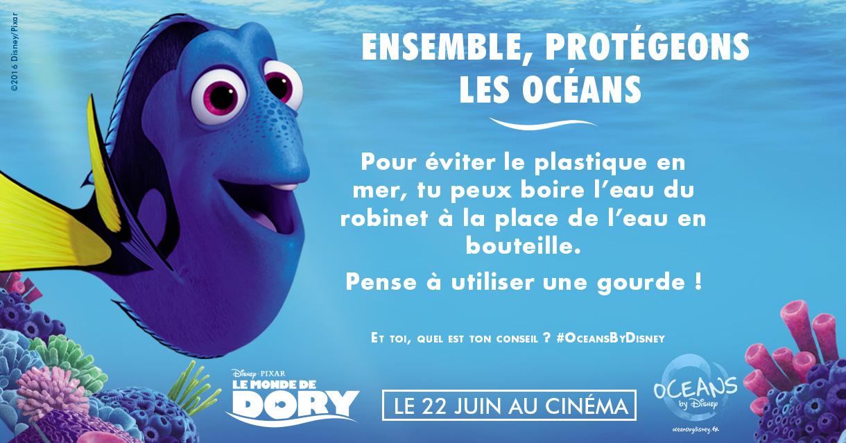 Dory encourage ses jeunes fans à préserver les océans