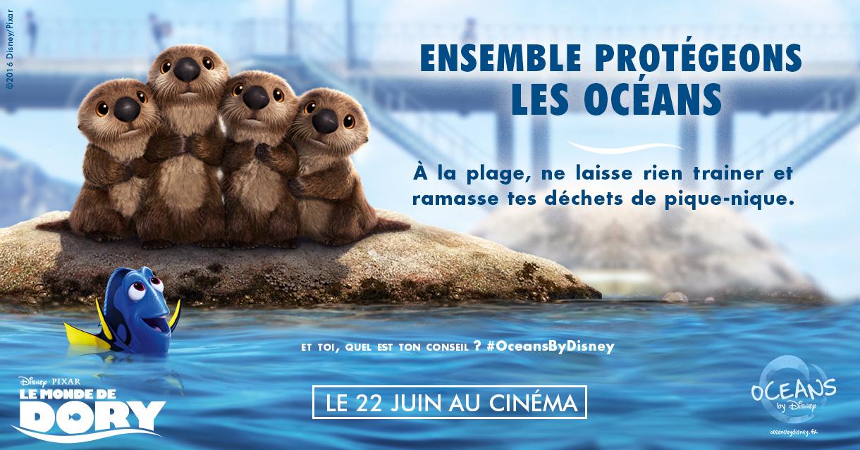 La campagne est aussi symbolisée par le #OceansByDisney