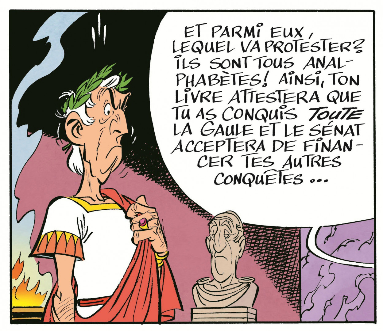 Jules César que l'on devine en discussion stratégique avec Bonus Promoplus