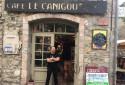 Le café du Canigou à Villefranche-de-Conflent (66).