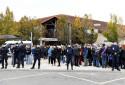 Rassemblement devant le collège de Conflans
