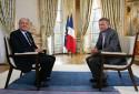 Jacques Chirac et Patrick Poivre d'Arvor, le 15 décembre 2004 à l'Élysée