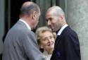 Jacques Chirac et Zinédine Zidane à l'Élysée en 2006