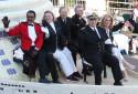 """Le cast de """"love boat"""" lors de la rose parade en 2015 à Pasadena (Etats-Unis)"""